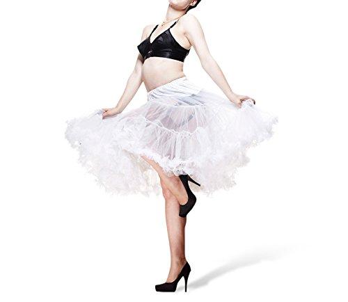 Petticoat - Unterrock weiß für Kleider Röcke Kostüme Rockabilly 50er 60er Jahre Mode Hell Bunny - (Kostüme Jahre Girl Pin Up 60er)