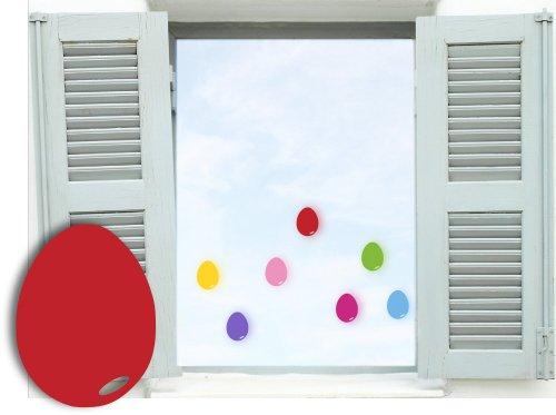 7 Stück bunte Ostereier Aufkleber, Mix-Set selbstklebend, Fensterdekoration zu Ostern Fensterbild / Fensteraufkleber Eier, Wandtattoo Deko Sticker, Autoaufkleber, Osterdekoration, Schaufenster In- und Outdoor