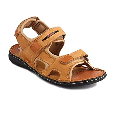 Red Chief Men Rust Leather Sandal RC3602 022 (10, Rust)