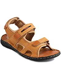 Red Chief Men Rust Leather Sandal RC3602 022