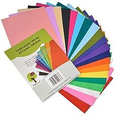 Idea Regalo - OfficeTree Carta Velina Colorata A4 per Decorazioni Creative Lavoretti per Bambini e Adulti | Semitrasparente in 20 Colori Diversi | 300 Fogli