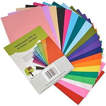 Geschenkverpackung Gemischte Farben 50 x Seidenpapier Geschenkpapier Laken 20 x 30