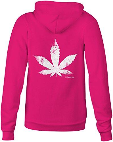 Cannabis Blatt ★ Confortable veste pour femmes ★ imprimé de haute qualité et slogan amusant ★ Le cadeau parfait en toute occasion pink