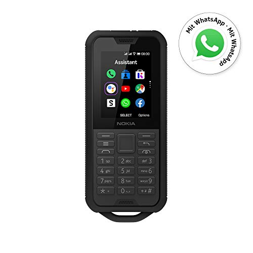 Nokia 800 Tough Outdoor Handy (6,1cm (2,4 Zoll), Dual-SIM, 4G LTE, KaiOS) Grey