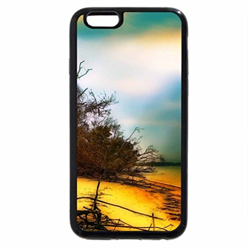iPhone 6S / iPhone 6 Case (Black) Autumn beach