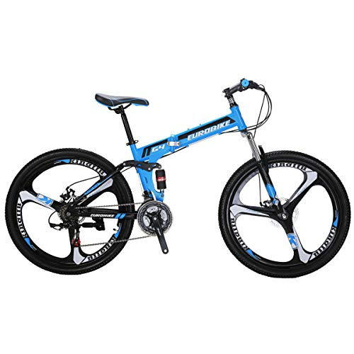 41c7v%2BjQoeL. SS500  - Eurobike G4 Mountain Bike 21 Speed Steel Frame 26 Inches Wheels Dual Suspension Folding Bike