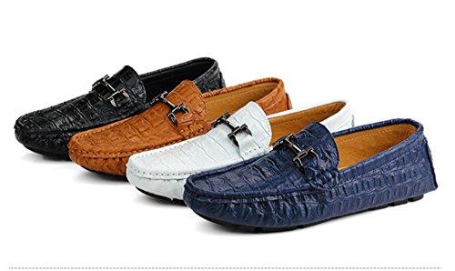 HENGJIA Herren Klassische Loafers Freizeitschuhe Schlupfhalbschuhe Bequeme Fahrerschuhe H8002 Braun