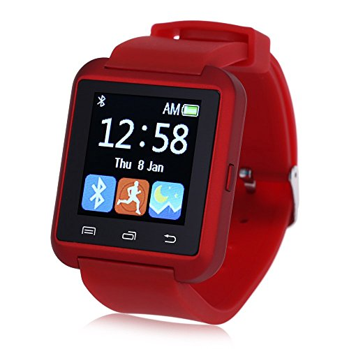 Leopard-Shop-U8S-Outdoor-Sports-Smart-Watch-Bluetooth-30-Remote-Camera-Red
