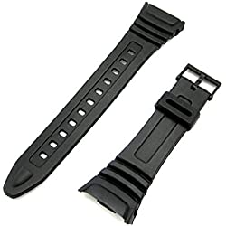 Watch Strap Flexible Black Resin to fit Casio 577EA1 (W96 W-96H W96H)