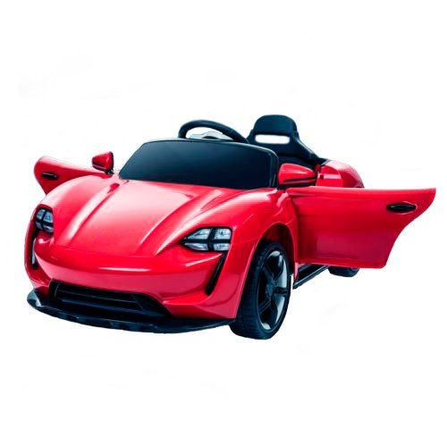 Coche eléctrico para niños 12v con Mando - Supercar Grand Auto - Coche eléctrico Infantil a batería con Dimensiones Extra Grandes- Estilo Porsche Mejor Precio - Rojo