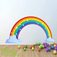 1Stop Graphics - RAINBOW FULL COLOUR WALL STICKER - BOYS GIRLS GRAPHIC C341