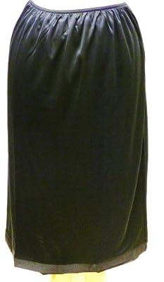 Ladies Black Waist Slip 28ins/71cms Length Sizes 10-12 14-16 18-20 22-24 26-28