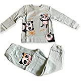 Girls Winter Cotton Pajamas in Different Sizes (Ment, 12 Months)