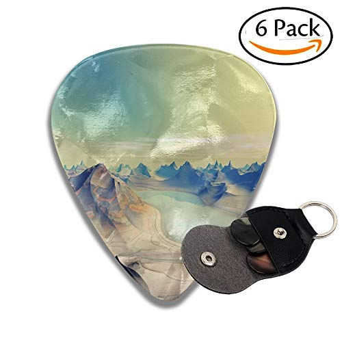 nets Are In Deep Space Stylish Celluloid Guitar Picks Plectrums For Guitar Bass 6 Pack.71mm ()