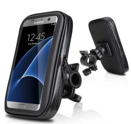 Waterproof Bike Mount Touchable Pouch Case with Adjustable 360°Rotating Clamp