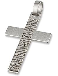 "Acero inoxidable-Kreuz-colgante ADAMO ""Padre Nuestro"" 3,10 cm"