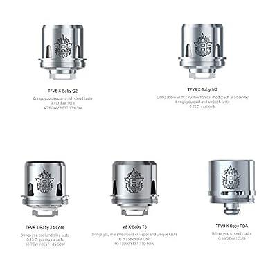 DIY-24H - Smok 3er Pack Verdampferköpfe für TFV8 X-BABY Beast Q2 M2 T6 X4 RBA Coils Head Verdampfer Atomizer von DIY-24H