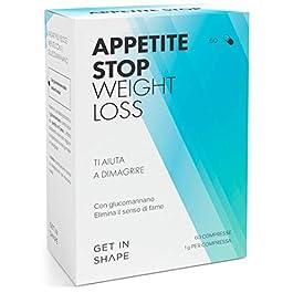 APPETITE STOP – pillole dimagranti soppressori dell'appetito con glucomannano (1000mg/pastiglia) dalla radice del konjac…