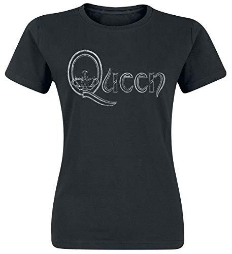 Queen Logo Camiseta Negro M