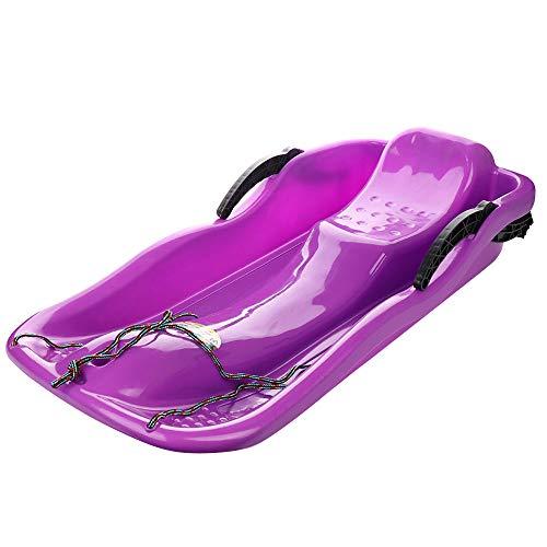 Marooma - Slittino da Neve con Corda di Traino e Maniglia di Freno, 34 Grandi utilità, in plastica, per Adulti e Bambini, Resistente