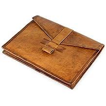 """A.P. Donovan - Funda para iPad Pro 12.9 """"- funda de protección del teclado (Caso universal / acolchada) - apariencia vintage - cuero marrón"""