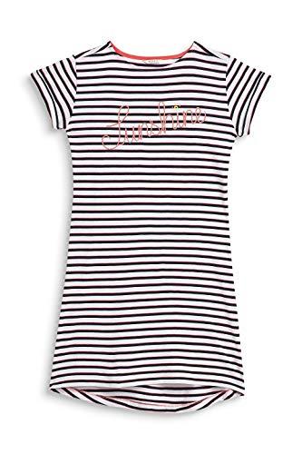 ESPRIT Mädchen Alice Yg Nw Nightshirt 1/2 Nachthemd Weiß (White 100) 140 (Herstellergröße: 140/146)