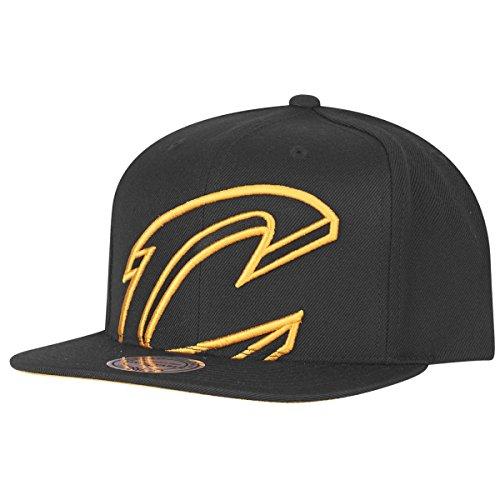 Mitchell & Ness Cleveland Cavaliers - big Logo Snapback Cap - Kappe NBA Basketball - schwarz