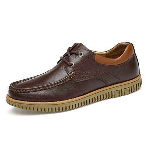 Qianliuk Männer Casual Leder Schuhe Loafers Bequeme Flats-Schuhe - Distressed Loafer