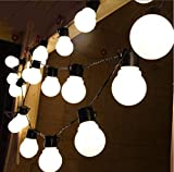 Citra Frosted Big Bulb Lights, 20LED 10M, Plastic Frosted Globe Fairy String Lights