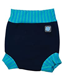 Splash About Happy Nappy, Pañal de natación para Bebé, Multicolor (Navy Blue Lagoon), XX Large (24+ Meses)