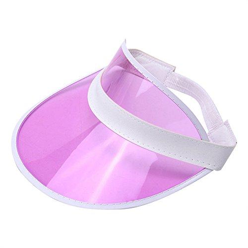 Sonnenhut Visier Sunvisor Party Lässig Unisex Hut Klar Kunststoff Solide Erwachsener Kappe Leere Top Hüte Lila ()