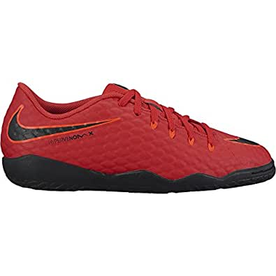 Nike Unisex-Kinder JR Hypervenomx Phelon III IC Fußballschuhe, Rot (Universität Rot/Schwarz-Helles Karmesinrot 616), 38.5 EU