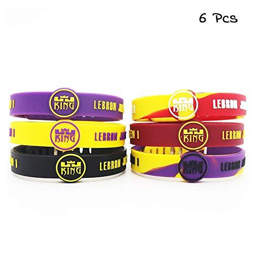 Lorh's store Basketball Team Star inspirierende Unterschrift Armbänder Sport Silikon einstellbar Armband (Lebron James) -