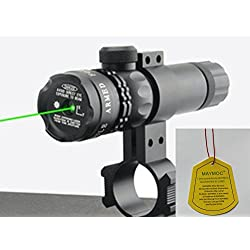 MAYMOC Ultra Bright Green Laser Sight Dot portée fusil portée avec gratuit Clamp prend en charge 18-21 mm. peut couper un tube de diamètre 25mm.