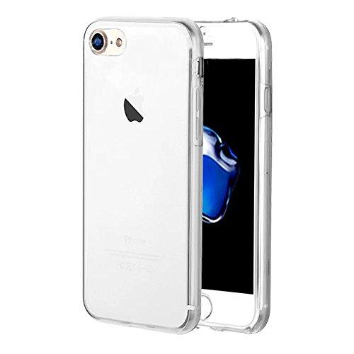 iPhone 7 Hülle, iPhone 8 Hülle,Vandot Double Hülle für iPhone 7/8 Handyhülle Transparent Full Body Beidseitiger 360°Schutz Schutzhülle Touchscreen TPU Silikon Dünne Case Cover Front Back Komplette Geh Klar