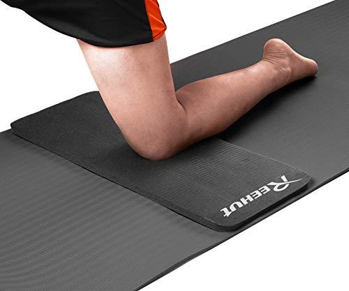 REEHUT Yoga Pad, Kniematte Kniekissen zur Entlastung und Unterstützung der Knie, Handgelenke und Ellbogen aus 15mm Stärke NBR-Schaumstoff für Yogamatte