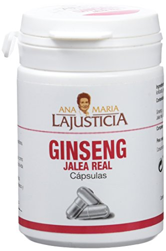 Ana Maria Lajusticia - Ginseng con jalea real - 60 cápsulas reduce el cansancio y la fatiga, refuerza el sistema inmunitario. Envase para 60 días de tratamiento.