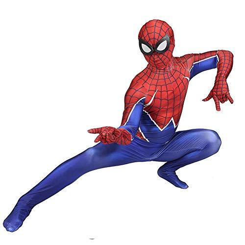 POIUYT Erwachsene PS4 Spiderman Kostüm Cosplay Skinny One Piece Halloween Theme Party Maskerade Film Requisiten Avengers Superhero,Red-XXXL (Avengers Theme Party)
