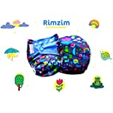 Superbottoms Plus UNO - RIMZIM - One Wash Prep Trim All In One Organic Cotton Cloth Diaper With 2 Soakers