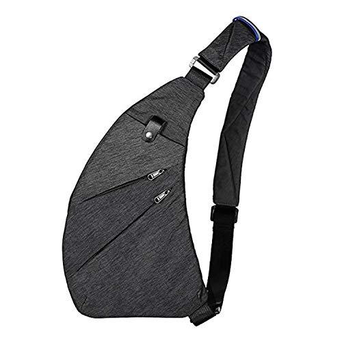 Wishliker Sling Bag Crossbody Bolsas de Hombro para el Pecho Deporte portatil para Caminatas al Aire...