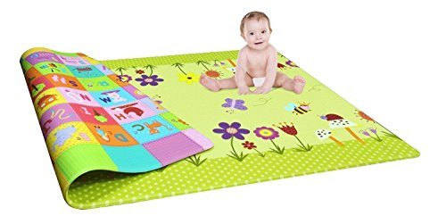 Ragx Studio Waterproof Double Sided Baby Play Mat Child Activity Foam Floor Soft Kid Educational Toy Gift Gym Crawl Blanket Ocean Zoo Carpet- 120 x 180cm (1pc)