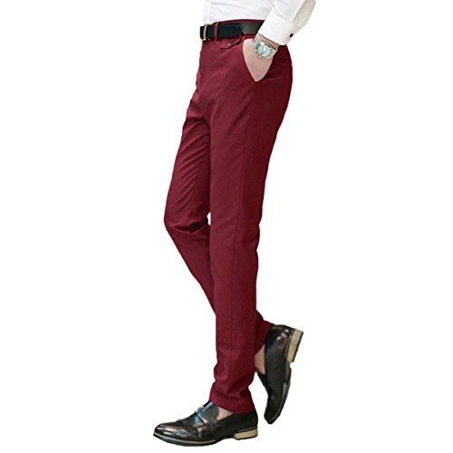 YOUTHUP -  Pantaloni da abito  - Attillata  - Uomo Red