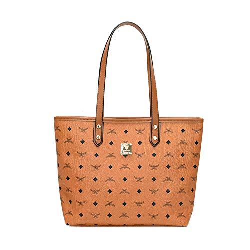 YZJLLZY Damentasche DamenbekleidungEinfache und stilvolle, Bedruckte Handtasche mit großem Fassungsvermögen, Schultertasche für Damen, gelb