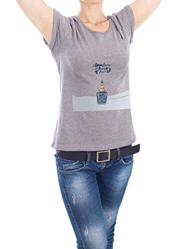 """Design T-Shirt Frauen Earth Positive """"Leuchtturm"""" - stylisches Shirt Kindermotive Städte Reise Architektur von Waltraud Rieken Grau"""
