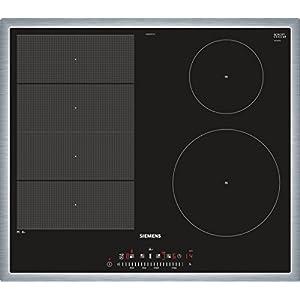 Siemens ex645fec1e iQ700hobs eléctrico/vitrocerámica/vidrio y cerámica/58,3cm/Flexible de zona–varioinduktions de zona de cocción/Negro