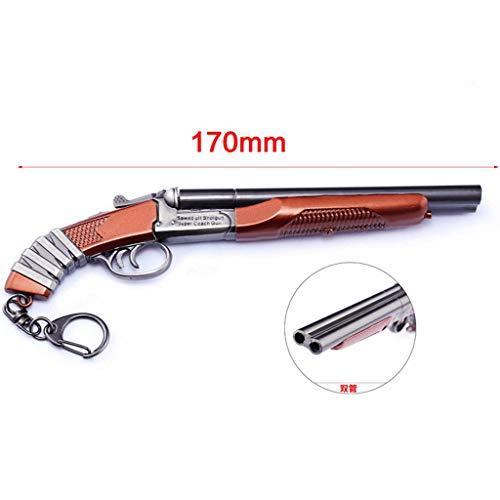 HNTZH Spiele Prop 1/6 Mini Metall SA Schrotflinte Modell Action Figure Schlüsselanhänger Spielzeug Zubehör