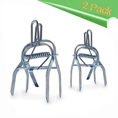 Trampa para Topos 2-pack De Aspectek, Trampa Gopher para topos, en acero galvanizado duradero inoxidable. Solucion contra problemas de topos