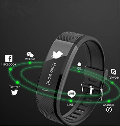 APJJ Fitness Tracker, wasserdichtes Farb-Screen Smart Armband mit Heart Rate Blood Pressure Monitor, Smart Watch Pedometer Activity Tracker Bluetooth für Android & iOS