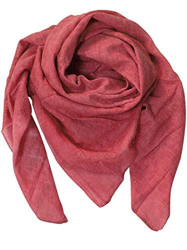 Harrys-Collection Damen Herren Baumwolltuch in vielen Farben 100 x 100 cm, Größen:Einheitsgröße, Farben:rot meliert