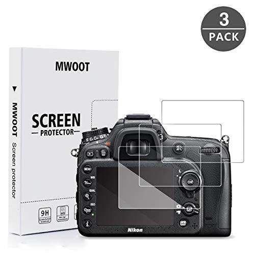MWOOT 3 Stück Schutzfolie aus Panzerglas für Nikon D5300 D5500 D5600 Kamera Bildschirm Schutz, 9H Härte Kratzfest Schutzglas für Displayschutz